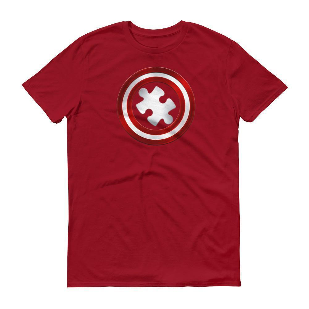 Men's Captain Autism Superhero Autism Awareness Product T-shirt Independence Red / 3XL / Men T-Shirt BelDisegno
