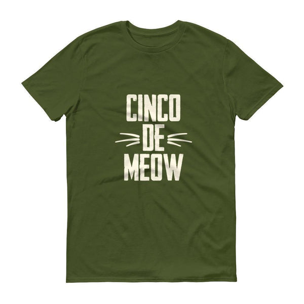 Men's Cinco de Meow tshirt Cinco de mayo shirt-T-Shirt-BelDisegno-City Green-S-BelDisegno