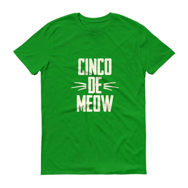 Men's Cinco de Meow tshirt Cinco de mayo shirt-T-Shirt-BelDisegno-Green Apple-S-BelDisegno