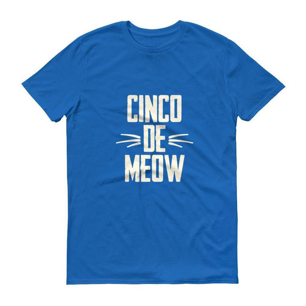 Men's Cinco de Meow tshirt Cinco de mayo shirt-T-Shirt-BelDisegno-Royal Blue-S-BelDisegno