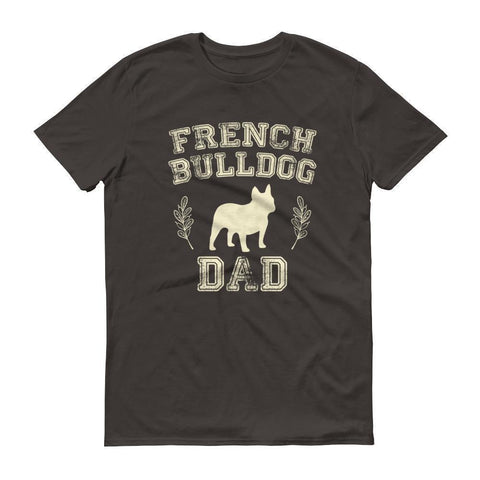 Men's French Bulldog Dad tshirt French bulldog gift for dog lovers-T-Shirt-BelDisegno-Smoke-S-BelDisegno