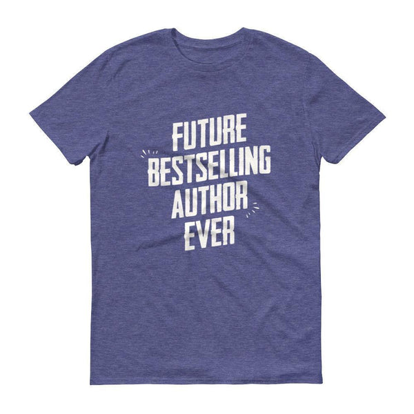 Men's Future Bestselling Author Ever tshirt Author gift-T-Shirt-BelDisegno-Heather Blue-S-BelDisegno
