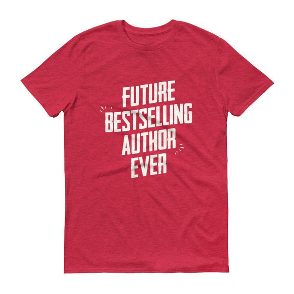 Men's Future Bestselling Author Ever tshirt Author gift-T-Shirt-BelDisegno-Heather Red-S-BelDisegno