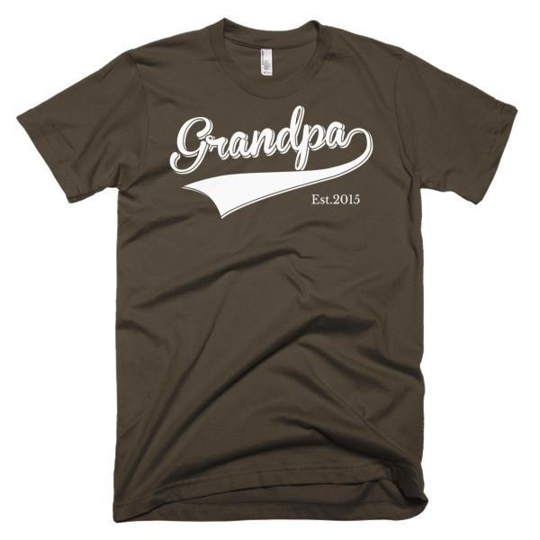 Men's Grandpa Est 2015 TShirt-T-Shirt-BelDisegno-Brown-S-Men-BelDisegno