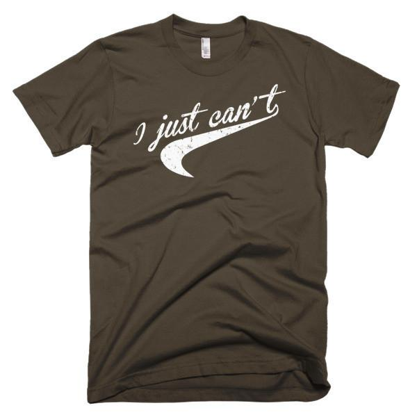 I Just Can't. Nice Parody distressed Tail graphic T-shirt