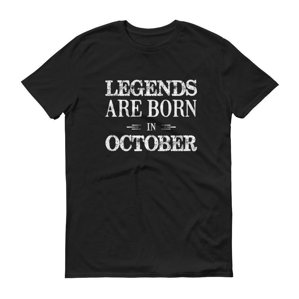 Men's Legends are born in October Birthday tshirt-T-Shirt-BelDisegno-Black-S-BelDisegno