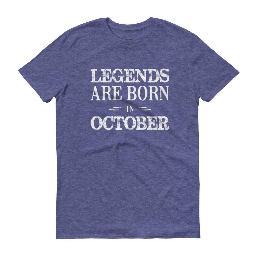 Men's Legends are born in October Birthday tshirt-T-Shirt-BelDisegno-Heather Blue-S-BelDisegno