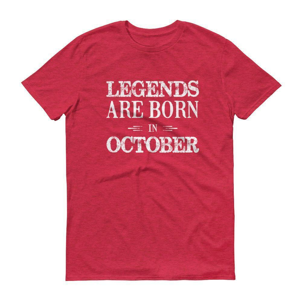 Men's Legends are born in October Birthday tshirt-T-Shirt-BelDisegno-Heather Red-S-BelDisegno