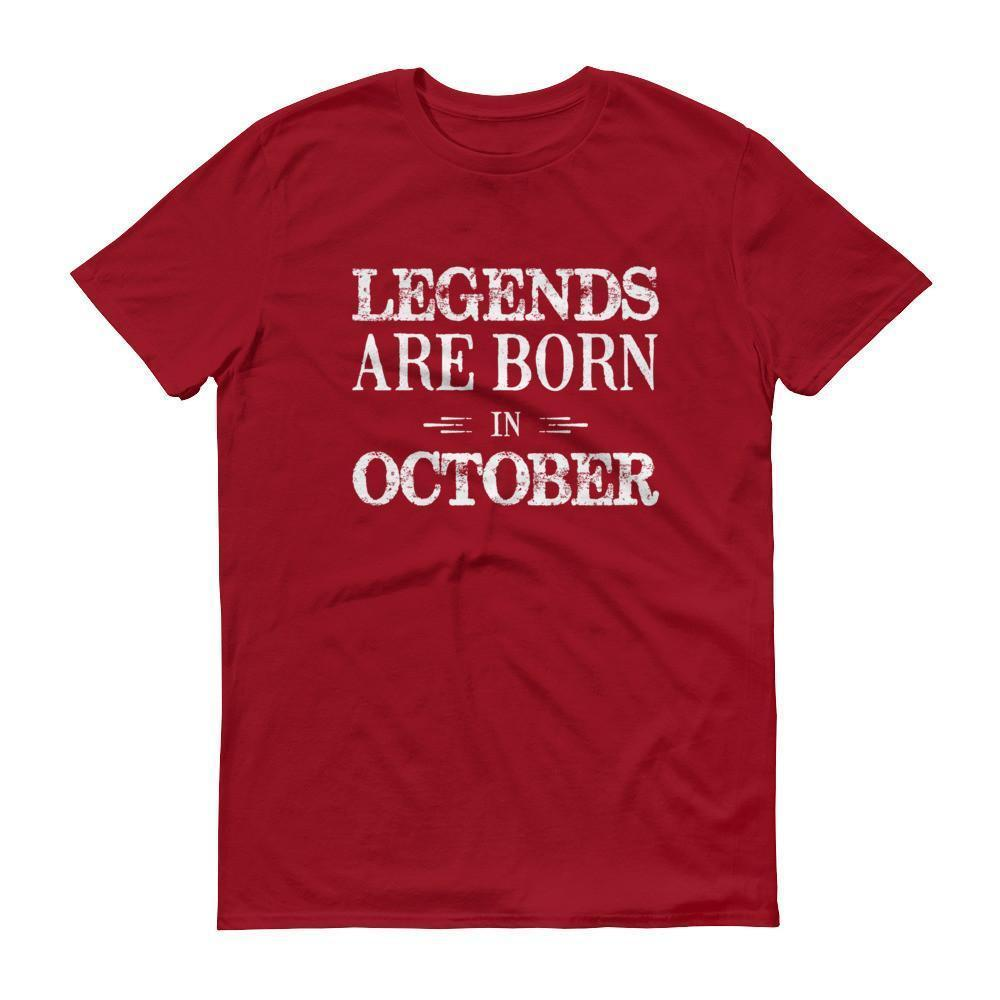 Men's Legends are born in October Birthday tshirt-T-Shirt-BelDisegno-Independence Red-S-BelDisegno