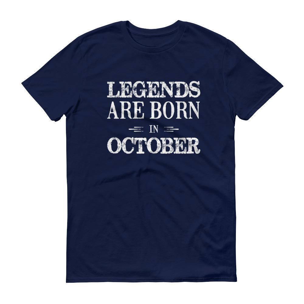 Men's Legends are born in October Birthday tshirt-T-Shirt-BelDisegno-Navy-S-BelDisegno