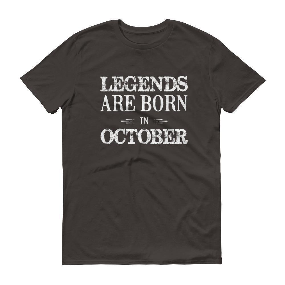 Men's Legends are born in October Birthday tshirt-T-Shirt-BelDisegno-Smoke-S-BelDisegno