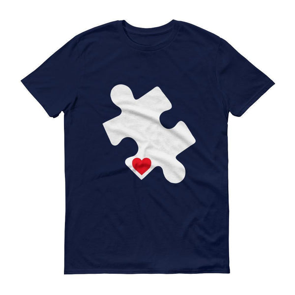 Men's Love Autism Autism Awareness Day 2017 Red Heart Puzzle TShirt-T-Shirt-BelDisegno-Navy-S-Men-BelDisegno