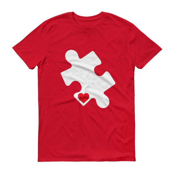 Men's Love Autism Autism Awareness Day 2017 Red Heart Puzzle TShirt-T-Shirt-BelDisegno-Red-S-Men-BelDisegno