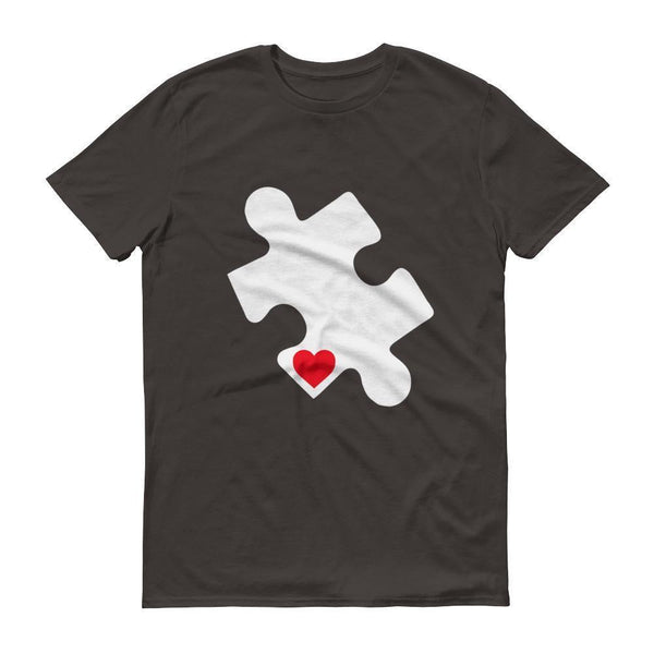 Men's Love Autism Autism Awareness Day 2017 Red Heart Puzzle TShirt-T-Shirt-BelDisegno-Smoke-S-Men-BelDisegno