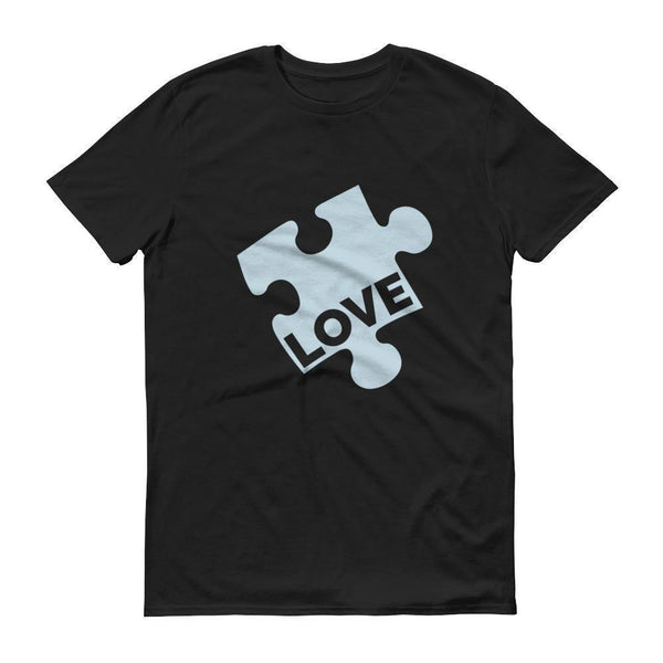 Men's Love Autism Awareness TShirt-T-Shirt-BelDisegno-Black-S-Men-BelDisegno