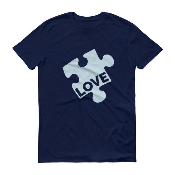 Men's Love Autism Awareness TShirt-T-Shirt-BelDisegno-Navy-S-Men-BelDisegno