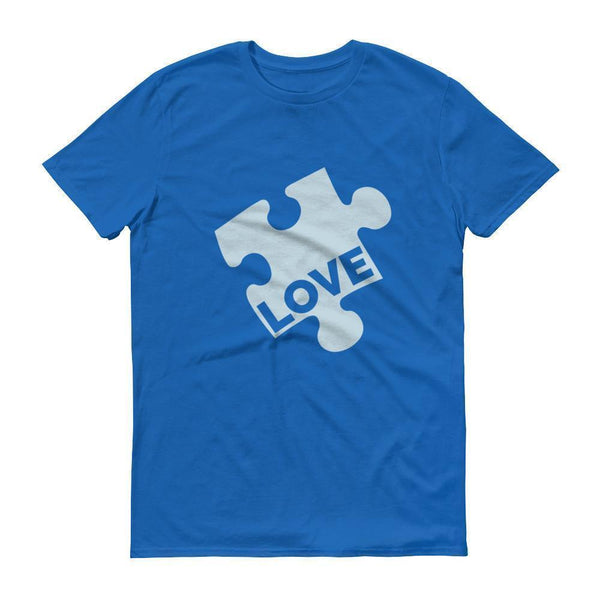 Men's Love Autism Awareness TShirt-T-Shirt-BelDisegno-Royal Blue-S-Men-BelDisegno