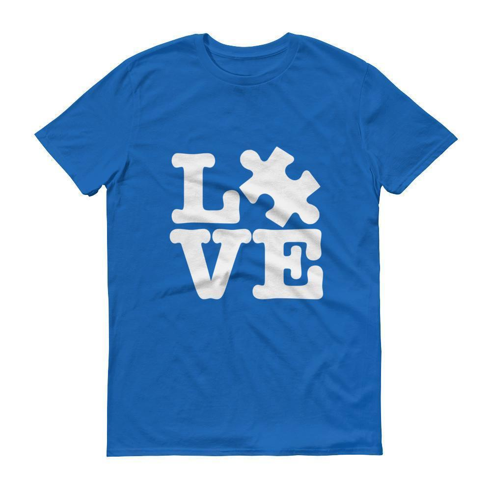Men's Love Autism Awareness T-shirt Royal Blue / 3XL / Men T-Shirt BelDisegno