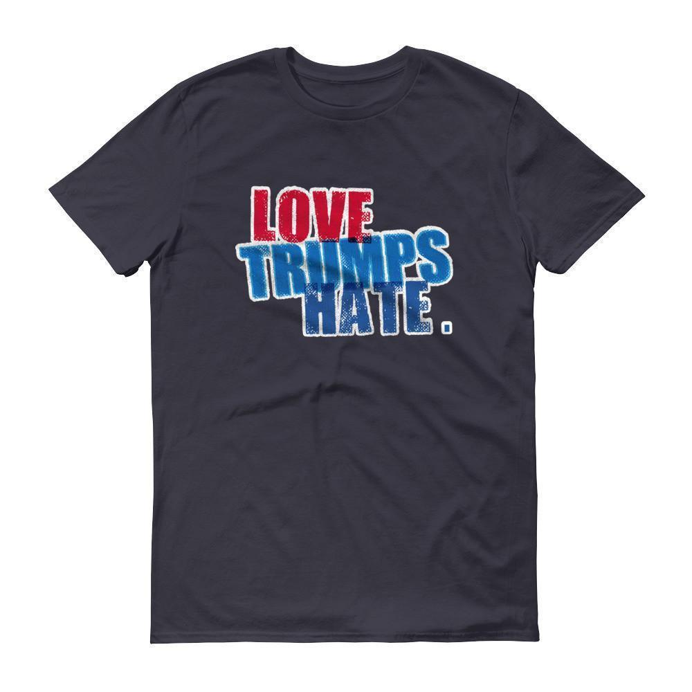 Men's Love Trumps Hate Hillary T-shirt Navy / 3XL / Men T-Shirt BelDisegno