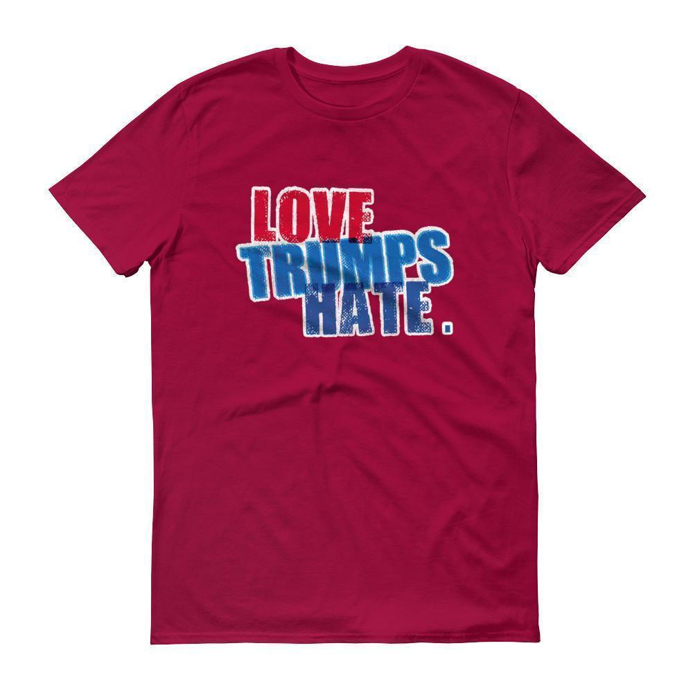 Men's Love Trumps Hate Hillary T-shirt Red / 3XL / Men T-Shirt BelDisegno