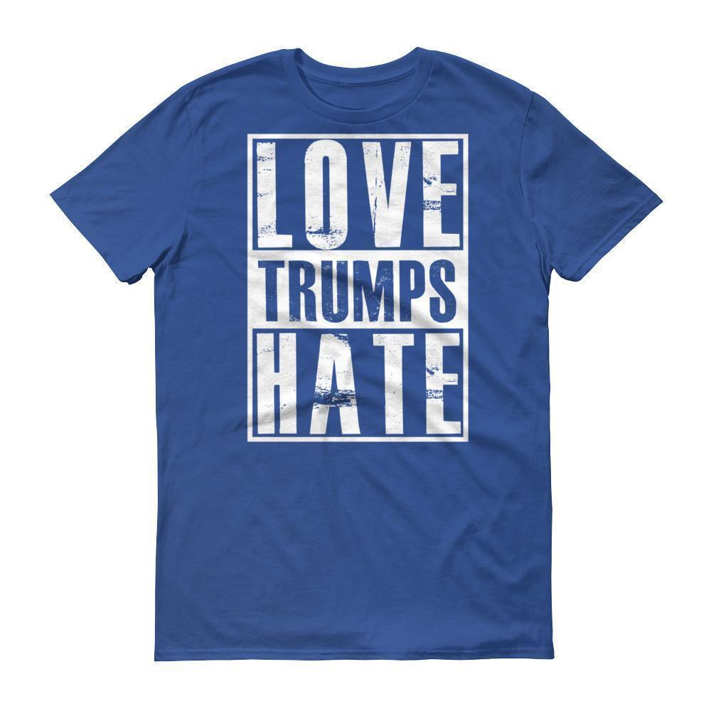Men's Love Trumps Hate Hillary T-shirt Royal Blue / 3XL / Men T-Shirt BelDisegno