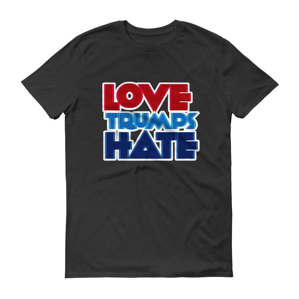 Men's Love Trumps Hate T-shirt Black / 3XL / Men T-Shirt BelDisegno