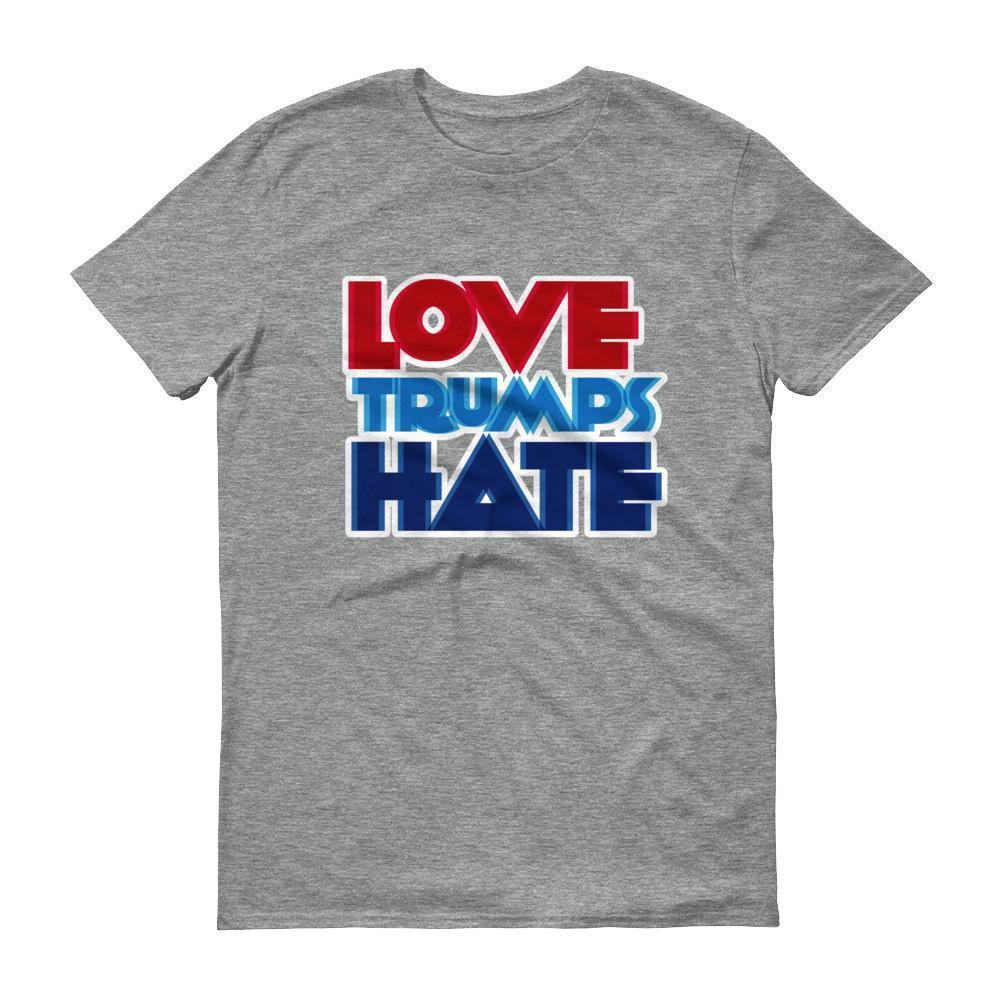 Men's Love Trumps Hate T-shirt Heather Grey / 3XL / Men T-Shirt BelDisegno