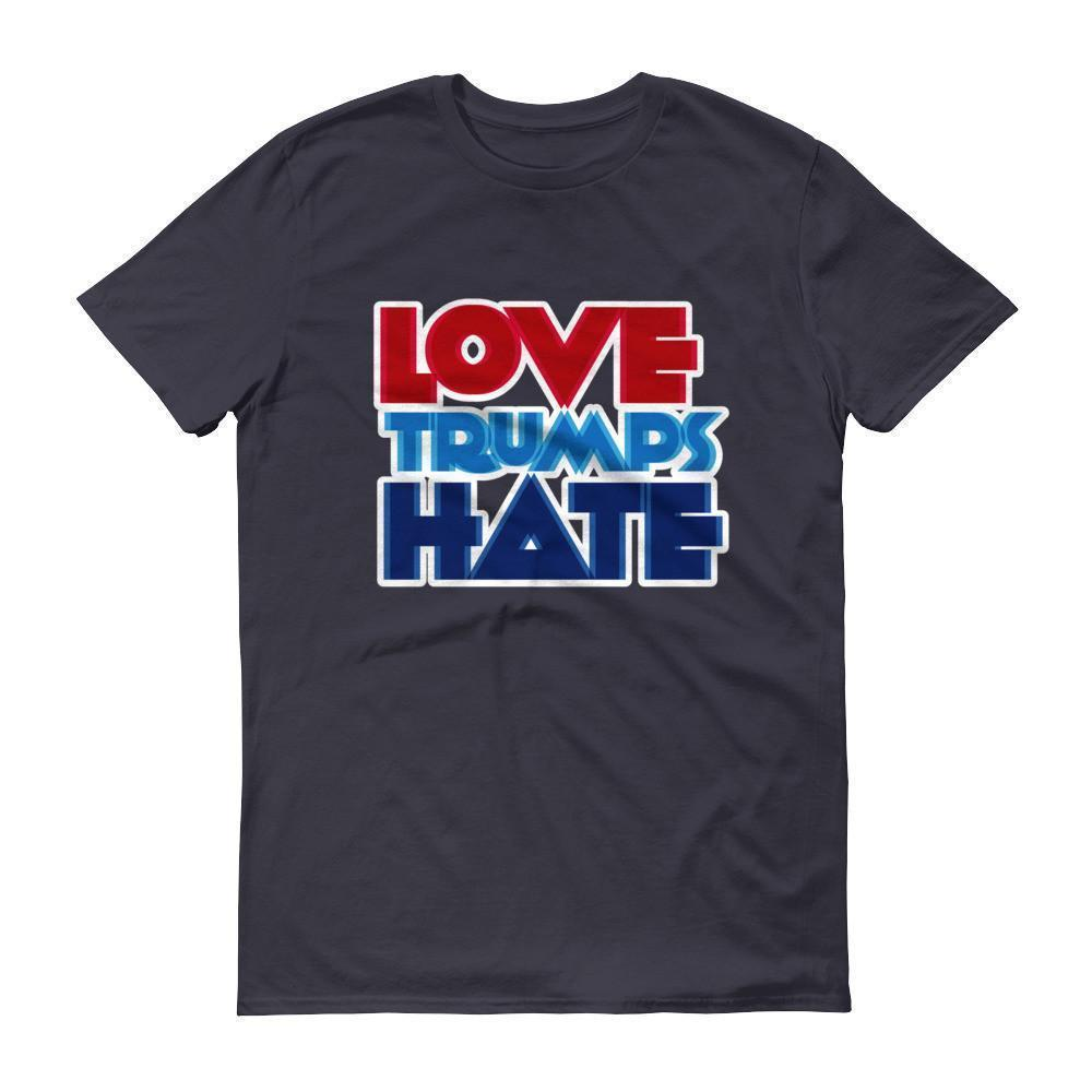 Men's Love Trumps Hate T-shirt Navy / 3XL / Men T-Shirt BelDisegno