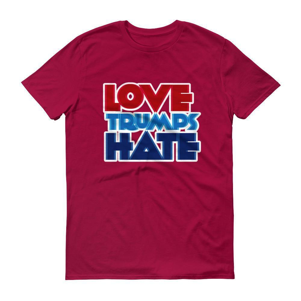 Men's Love Trumps Hate T-shirt Red / 3XL / Men T-Shirt BelDisegno