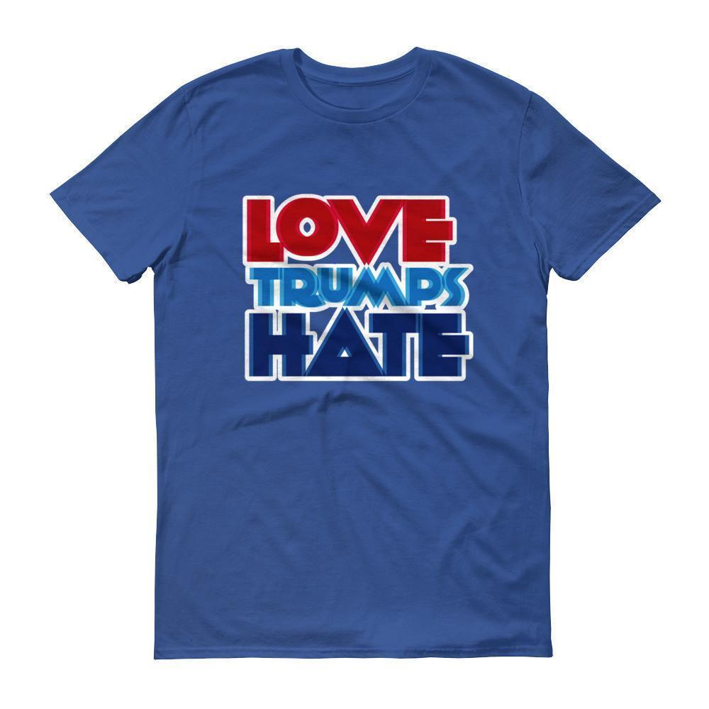 Men's Love Trumps Hate T-shirt Royal Blue / 3XL / Men T-Shirt BelDisegno