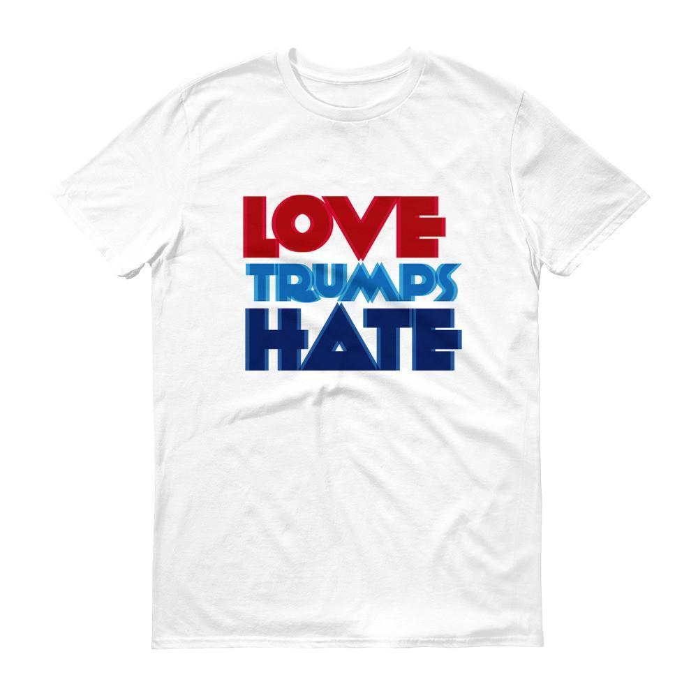 Men's Love Trumps Hate T-shirt White / 3XL / Men T-Shirt BelDisegno
