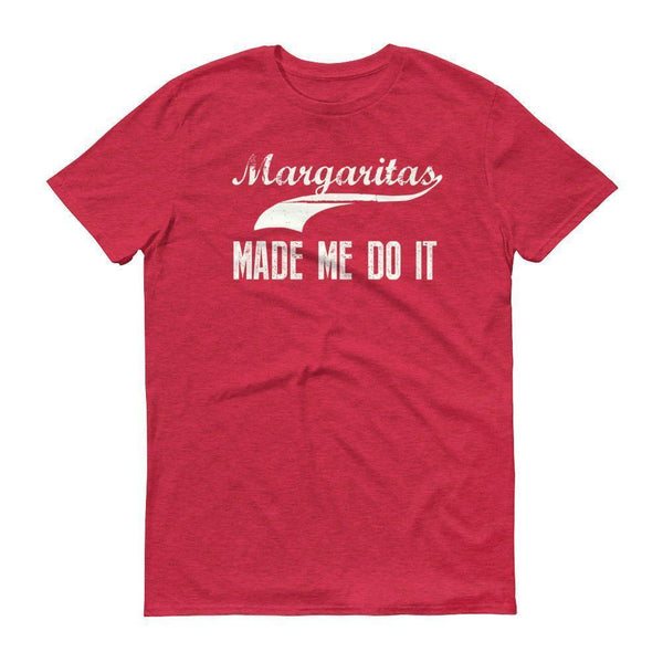 Men's Margarita made me do it tshirt Drinking shirt tequila Heather Red / 3XL T-Shirt BelDisegno
