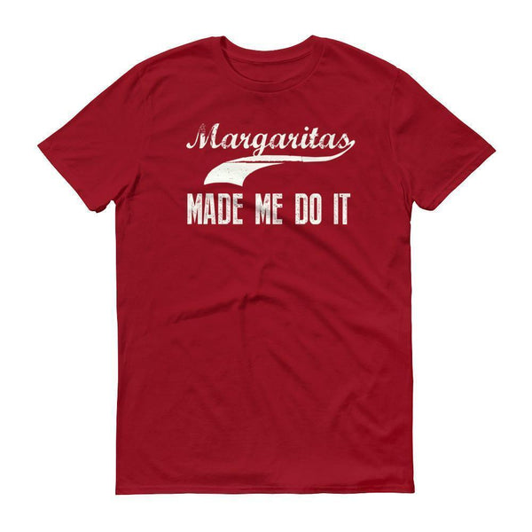 Men's Margarita made me do it tshirt Drinking shirt tequila Independence Red / 3XL T-Shirt BelDisegno