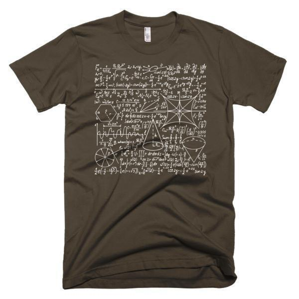 Men's Math Equation Cool Quadratic Formula Geek Nerd T-shirt Brown / 3XL / Men T-Shirt BelDisegno