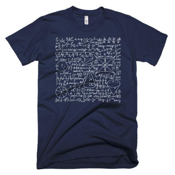 Men's Math Equation Cool Quadratic Formula Geek Nerd T-shirt Navy / 3XL / Men T-Shirt BelDisegno