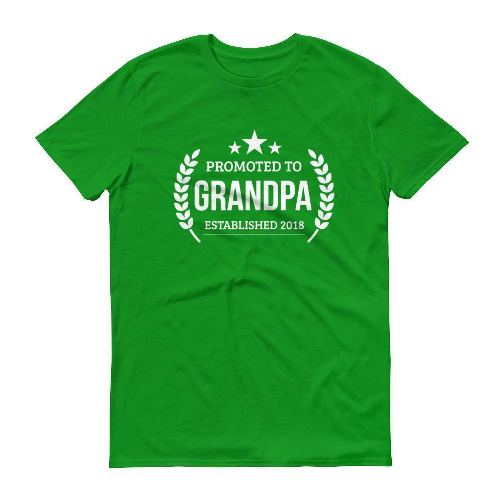 Men's Promoted to Grandpa Established 2018 tshirt New first time Grandpa to be gift  T-Shirt BelDisegno