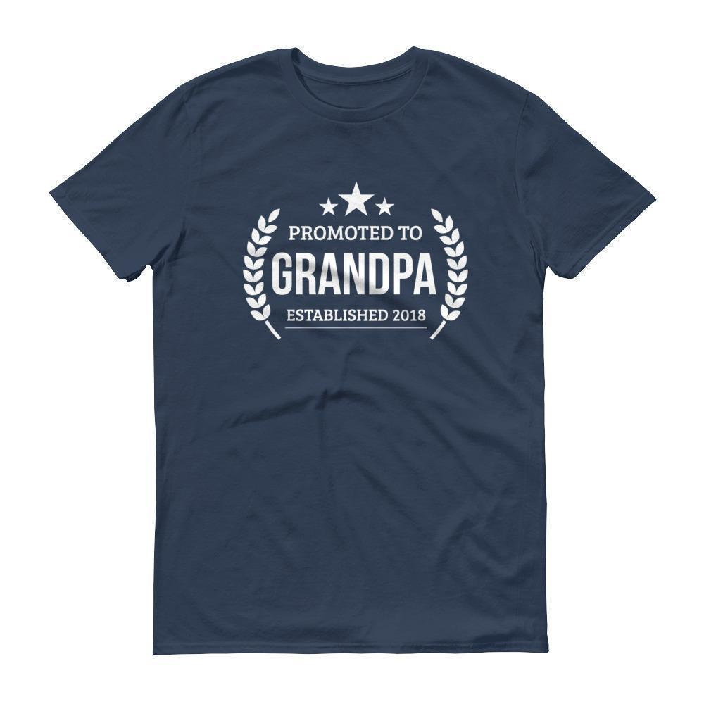 Men's Promoted to Grandpa Established 2018 tshirt New first time Grandpa to be gift Lake / 3XL T-Shirt BelDisegno