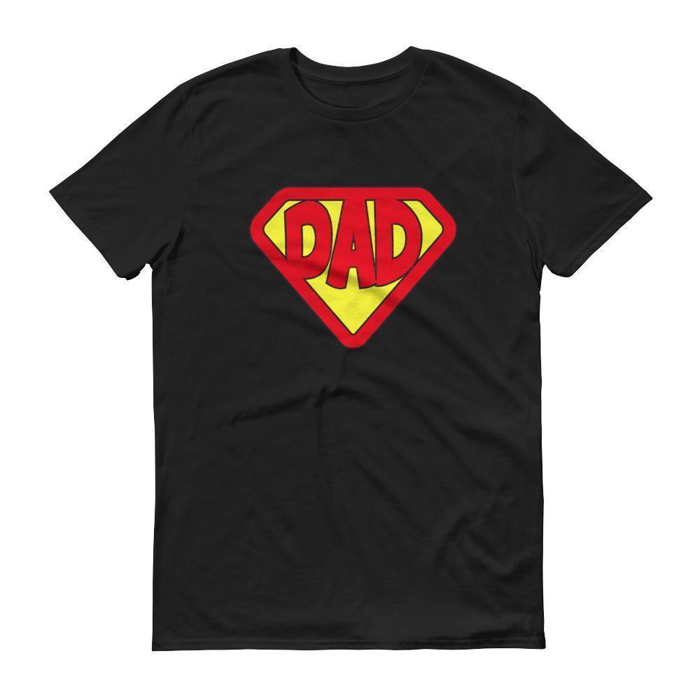 Mens Superhero Dad Tshirt Gift For Fathers Day Or Birthday T Shirt