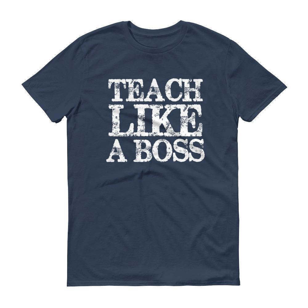 Men's Teach Like A boss tshirt Funny back to school gift for teachers-T-Shirt-MaryLaax-Lake-S-BelDisegno