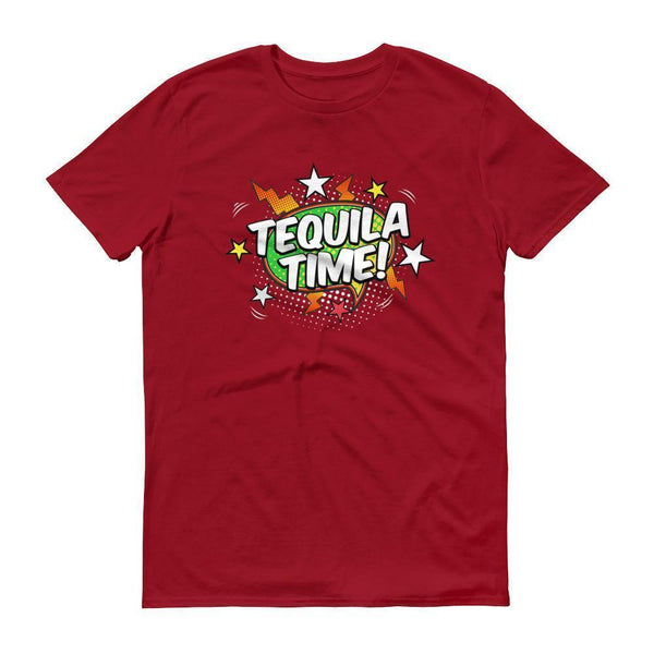 Men's Tequila Time tshirt Tequila shirt-T-Shirt-BelDisegno-Independence Red-S-BelDisegno