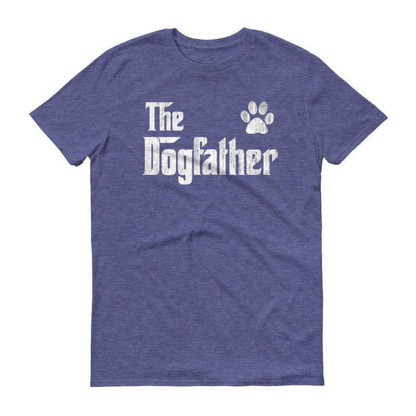 Men's The Dogfather Dog Dad Fathers Day Dog Lover Gift TShirt-T-Shirt-BelDisegno-Heather Blue-S-BelDisegno