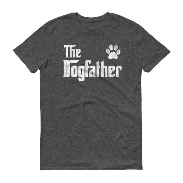 Men's The Dogfather Dog Dad Fathers Day Dog Lover Gift TShirt-T-Shirt-BelDisegno-Heather Dark Grey-S-BelDisegno