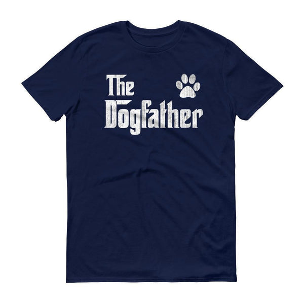 Men's The Dogfather Dog Dad Fathers Day Dog Lover Gift TShirt-T-Shirt-BelDisegno-Navy-S-BelDisegno