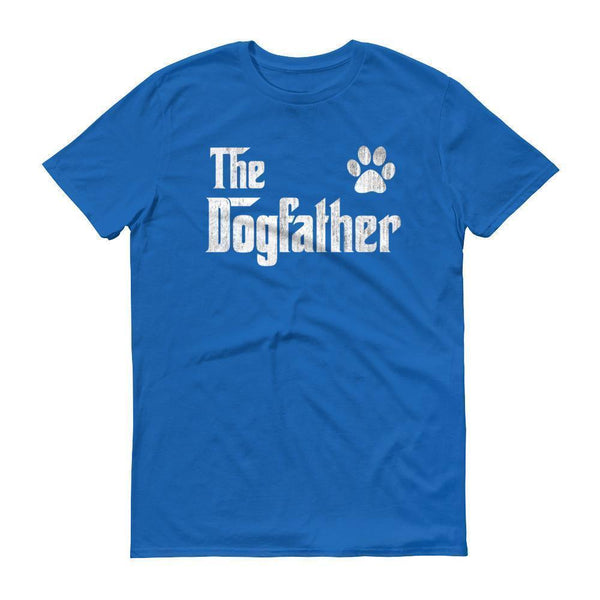 Men's The Dogfather Dog Dad Fathers Day Dog Lover Gift TShirt-T-Shirt-BelDisegno-Royal Blue-S-BelDisegno