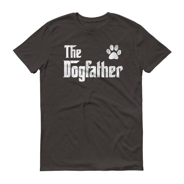 Men's The Dogfather Dog Dad Fathers Day Dog Lover Gift TShirt-T-Shirt-BelDisegno-Smoke-S-BelDisegno