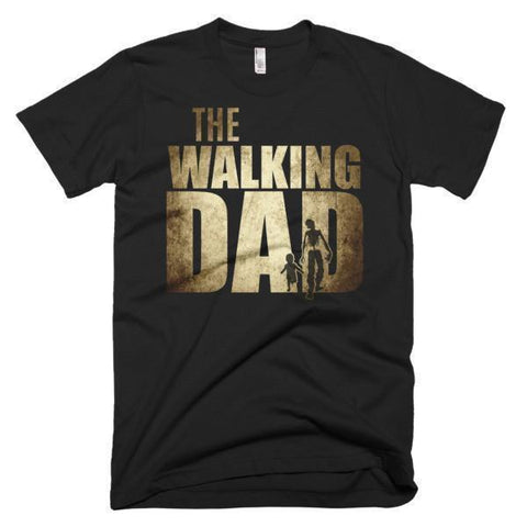 Men's The walking dad instead of walking dead TShirt-T-Shirt-BelDisegno-Black-S-Men-BelDisegno