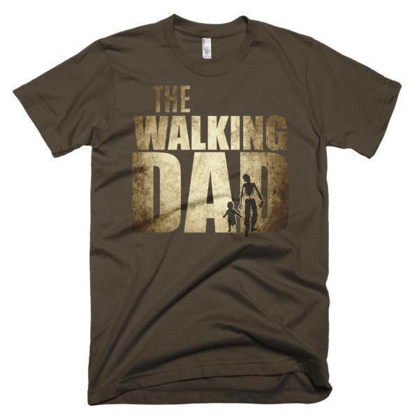 Men's The walking dad instead of walking dead TShirt-T-Shirt-BelDisegno-Brown-S-Men-BelDisegno