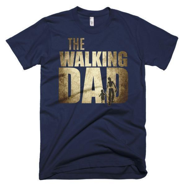Men's The walking dad instead of walking dead TShirt-T-Shirt-BelDisegno-Navy-S-Men-BelDisegno