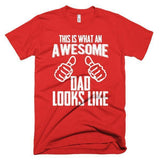 Men's This is an Awesome Dad Looks like TShirt-T-Shirt-BelDisegno-Red-S-Men-BelDisegno