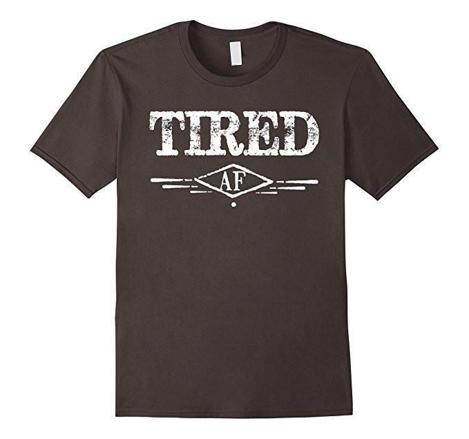 Men's Tired AF Funny Napping Napper Nap time Lazy TShirt-T-Shirt-BelDisegno-Asphalt-2XL-BelDisegno